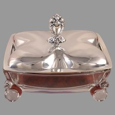 HERITAGE Covered Candy Dish Vintage 1953 Silver Plate Flatware Silverware by 1847 Rogers Bros International