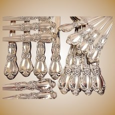 1847 Rogers HERITAGE Vintage 1953 Silver Plate Floral Flatware Silverware Set You Choose Grille Viande Dinner Service for 4 (Qty Avail.)