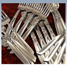Oneida Community SOUTH SEAS Vintage 1955 Silver Plate Flatware Silverware Set Dinner Service for 4, 8, 12, 16 or 20