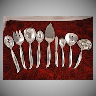 1847 Rogers FLAIR 9 Piece Serving Set Vintage 1956 Silver Plate Flatware
