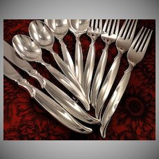 1847 Rogers FLAIR Silverware Set Vintage 1956 Silver Plate Flatware Dinner Service for 4, 8, 12, 16, 20 or 24