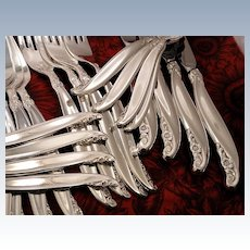 1847 Rogers LEILANI Silverware Set Vintage 1961 Silver Plate Flatware Dinner Service for 4, 8, or 12