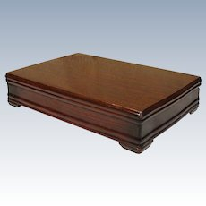 Vintage 1847 Rogers Wood Silverplate Silverware Flatware Footed Mahogany  Finish Storage Box Chest Case