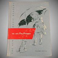 The New Pre-Primers Teacher's Edition Vintage 1956 Scott Foresman Dick and Jane Series School Basic Reader 3 Books in 1
