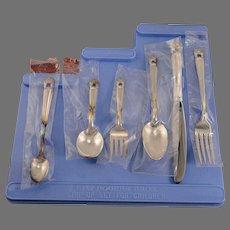 6 Piece Unused Childrens BOY Step-Up Silverware Flatware Set Vintage 1847 Rogers Bros. ETERNALLY YOURS 1941 Silver Plate
