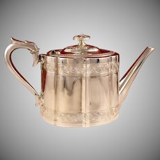 Antique Circa 1890 Victorian Sheffield Silver Plate Teapot by James Dixon and Sons England