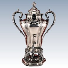 Large Antique 1904 Victorian Pairpoint Mfg. Co. #378 Quadruple Silver Plate Art Nouveau Coffee Urn Samovar Hot Water Pot