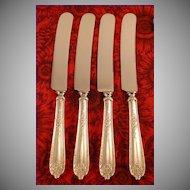 4 lunch knives - Sterling Silver 1922 Gorham Alvin Della Robbia