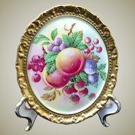 Porcelain Fruit Peach Plums Strawberry Cherries Grape Paragon China
