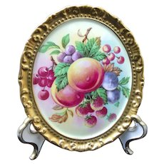 Porcelain Fruit Peach Plums Strawberry Cherries Grape Paragon China