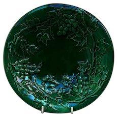 Antique Pottery Majolica Green Grape Vine