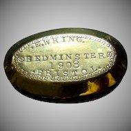 Brass Tobacco Snuff Miners Twist Box Bedminster Bristol Antique