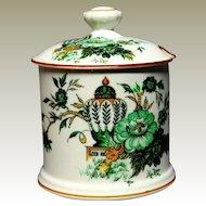 Crown Staffordshire Porcelain Conserve Jar Kowloon England Antique