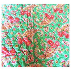 Quilt Scottish Welsh Paisley Cotton C1930 The Comfy Vintage