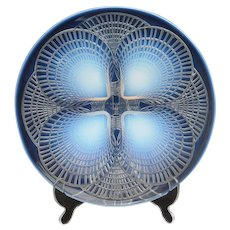 Rene Lalique Opalescent Glass Charger Art Deco France ''COQUILLES''