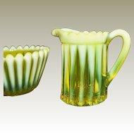 Glass Vaseline Opalescent Uranium Antique