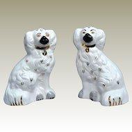 Beswick Animals Old English Dogs Staffordshire Pottery Gold Locket Vintage