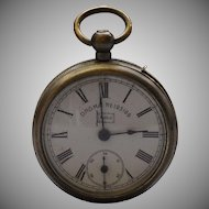 Pocket Watch Vesta Strike Case E.P.N.S. Bavaria 'Moko'