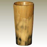 Antique UK Cow Horn Beaker.