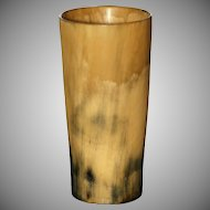 Antique UK Cow Horn Beaker.