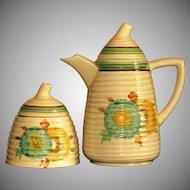 Clarice Cliff Tynton Viscaria Honyedew Coffee Honey Wilkinson England