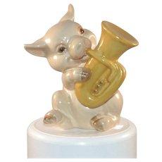 Goebel West Germany Pig Musician Tuba Player 1979