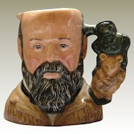 Royal Doulton Character Jug George Tinworth D7000 bearded Handle Tinworth sculptures
