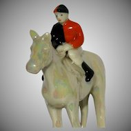 Jockey Horse Art Deco Period c1920-30 City of London Alms Trainer Colours Carlton Ware Porcelain