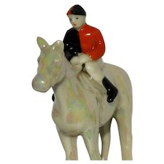 Jockey Horse Art Deco Period c1920-30 City of London Alms Trainer Colours Carlton Ware Porcelain