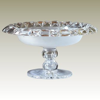 Irish Cut Glass Tazza George 1V c1830 Table Centrepiece