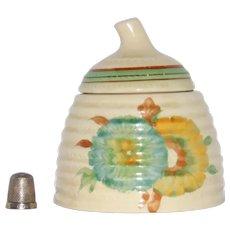 Clarice Cliff Honey Pot shape Lynton pat. Viscaria Honeydew Wilkinson England