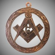 Early Vintage Gold Masonic Pendant