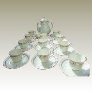 Vintage Limoges Tea & Coffee Set Porcelain Gilding