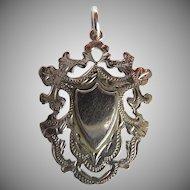 Antique Gold 9 Karat Fob Medallion