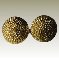 Vintage 1950's gold plated cufflinks.