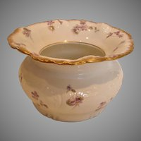 French Haviland Limoges Wine Tasting Cuspidor Spittoon Violets c 1891-1900