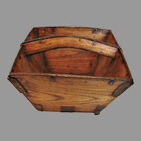 American Chestnut Wood Carrier Early 1800s c 1800 - 1840