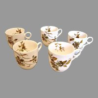 Haviland Limoges 5 Demitasse Espresso Cups Old Blackberry c 1876 - 1880
