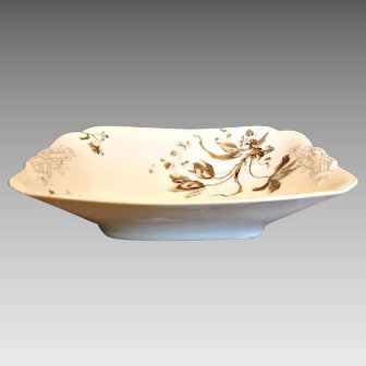 Haviland Limoges Open Square Vegetable Serving Bowl Old Blackberry c 1876 - 1889