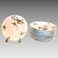 """Haviland Limoges Set 11 Plates 7 ½"""" Old Blackberry c 1876 - 1889"""
