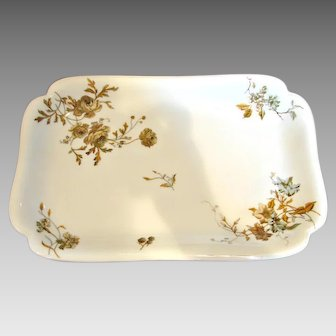 "Haviland Limoges Serving Platter 14.5"" by 9.5"" Old Blackberry c 1887"