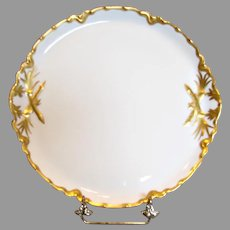 French Haviland Limoges Serving Tray White Gold c 1894 - 1930