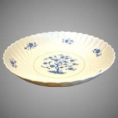 "Haviland French Limoges Bowl 10.75"" Blue Tree Gold Accents c 1967"