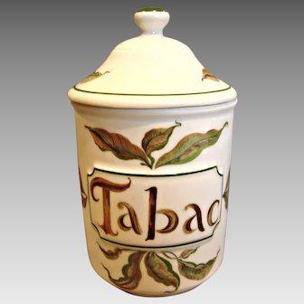 Haviland French Limoges Tobacco Jar w Lid c 1960