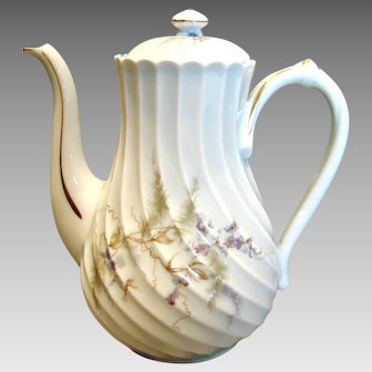 Haviland French Limoges Coffee or Tea Pot (Teapot) Orsay c 1960