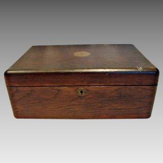German Large Wood Cutlery Box Heinrich Mau Dresden c 1890