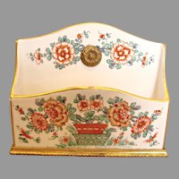French Samson Letter Holder Chantilly Kakiemon c 1890