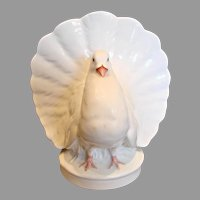 English Minton White Fantail Dove Bird Posy Vase c 1862 - 1871