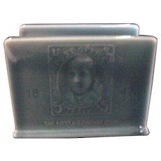 Rookwood Blue Letter Holder 5 Cent Stamp Decor 1956
