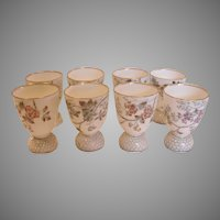 French Limoges Set of 8 Double Egg Cups c 1870 -1890